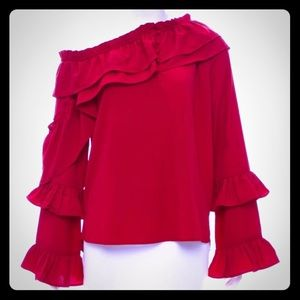 NWT ruffle top perfect for Christmas